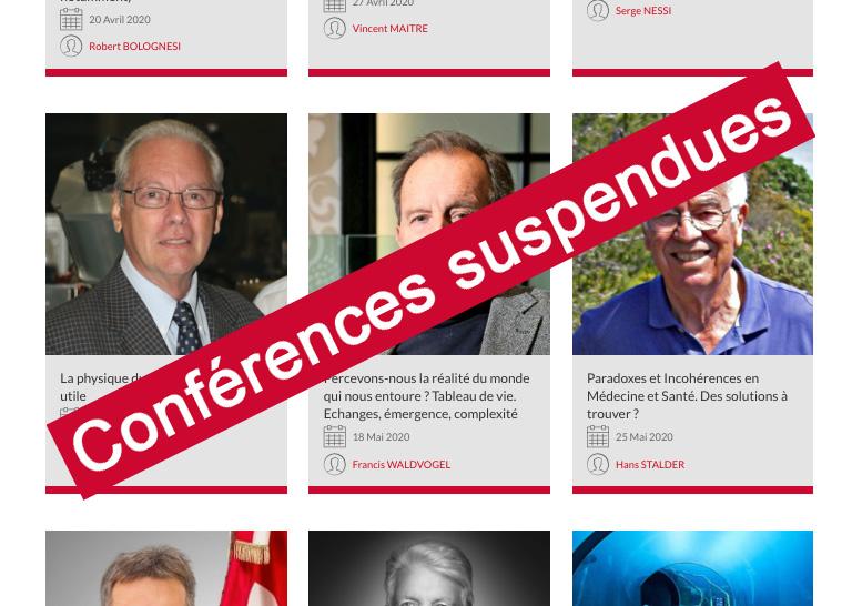 Conférences suspendues